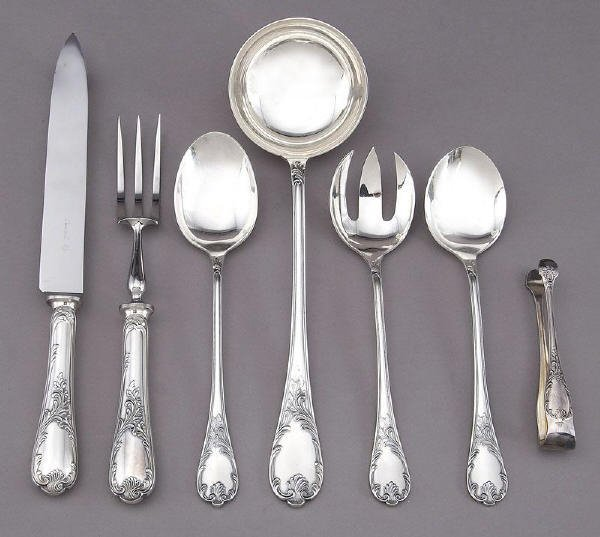 180: 90 Pcs. Christofle Marly sterling silver flatware - 4