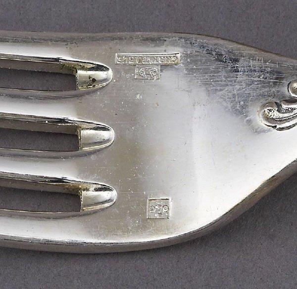 180: 90 Pcs. Christofle Marly sterling silver flatware - 5