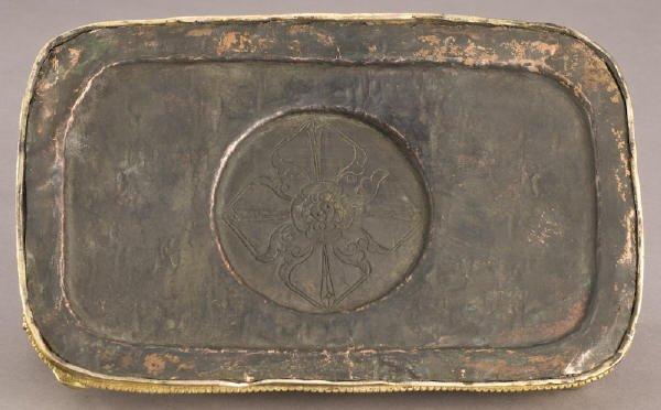 187: Chinese / Tibetan Qing gilt bronze Daweide Jingang - 9