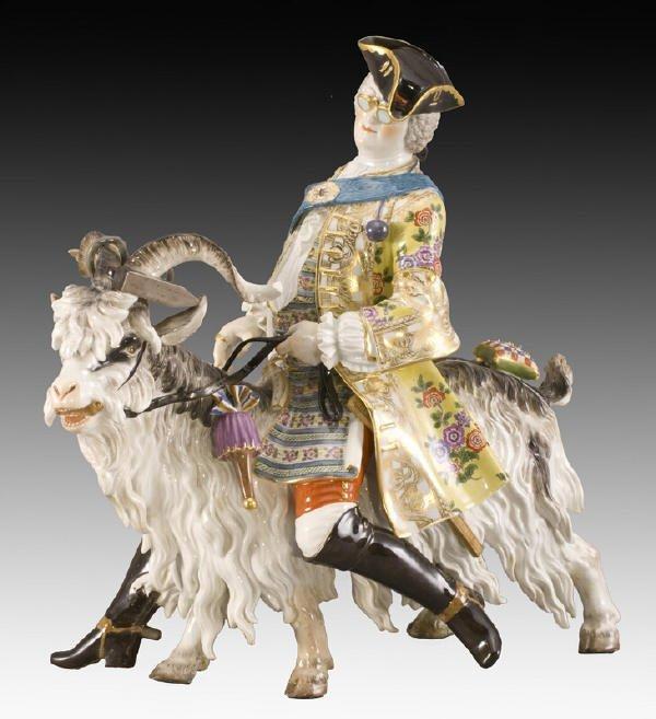 193: Meissen porcelain Count Von Bruhl's tailor figure