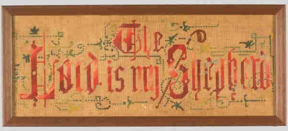 2: (2)pcs.Victorian samplers, one with a