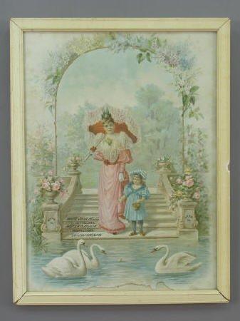 4: Victorian Lithograph, White Swan ad