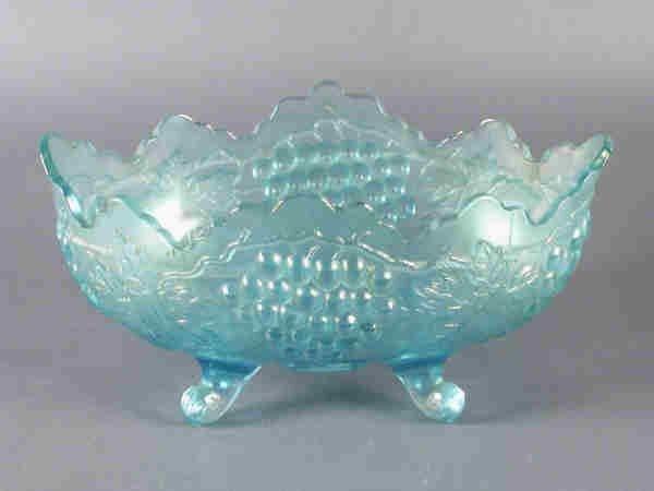 15: Fenton Carnival Glass banana bowl in