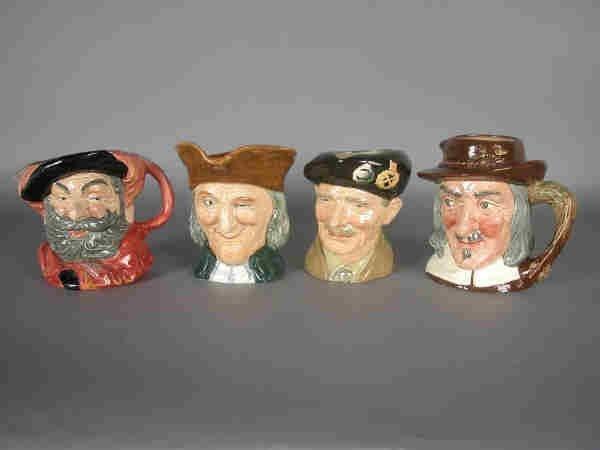 16: (4)pcs. Asst. Royal Doulton Toby mugs.