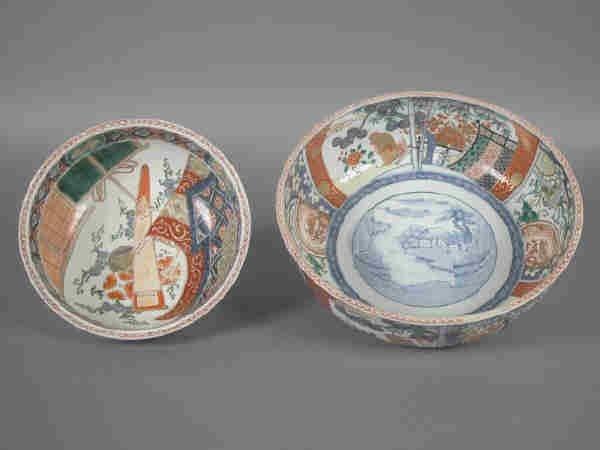 17: (2) Antique Imari bowls