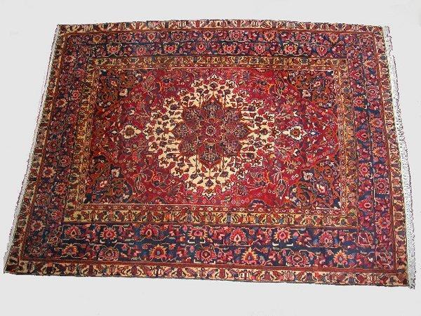 182: Semi-antique Baktiari Oriental rug