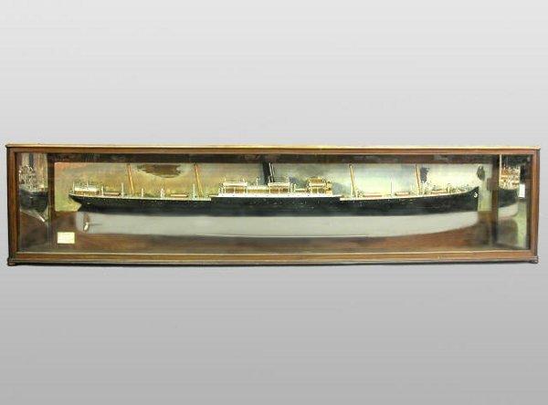 "197: Half-model of ""S.S. Bosnia"" in mahogany"