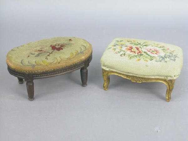 400: Two French antique footstools