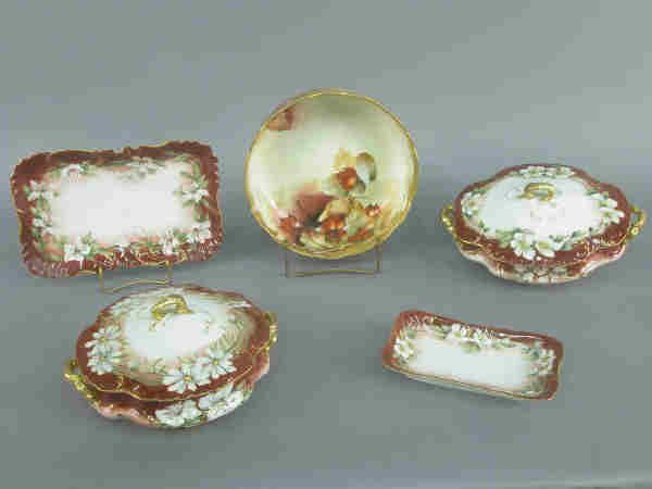 403: (6)pcs. of French painted porcelain