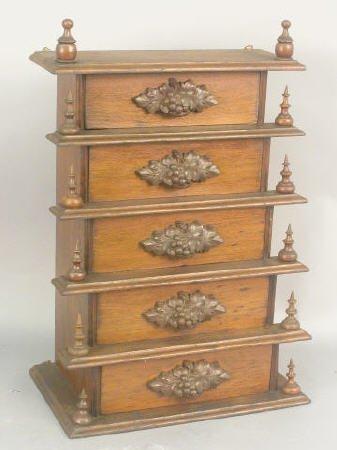404: Walnut step-back hanging cabinet c.1890