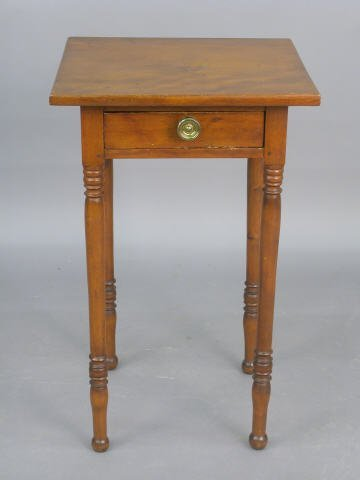 406: Antique American 1 drawer stand,