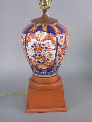 414: Imari lamp (converted from vase)