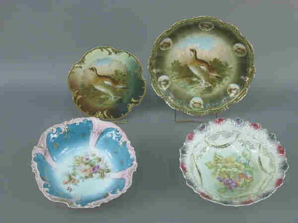 419: (4) pcs. Porcelain bowls and plates