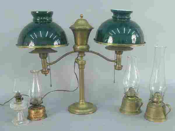 (5) - Victorian style oil lamps