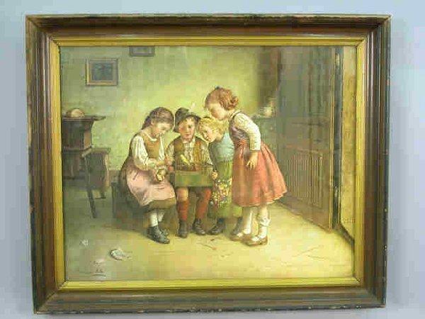 """563B: Edmund Adler original print, """"Four"""