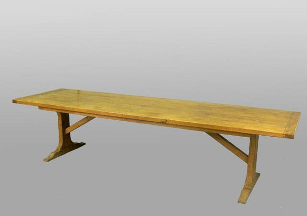 576: 19th c. Tuscan refectory table, oak