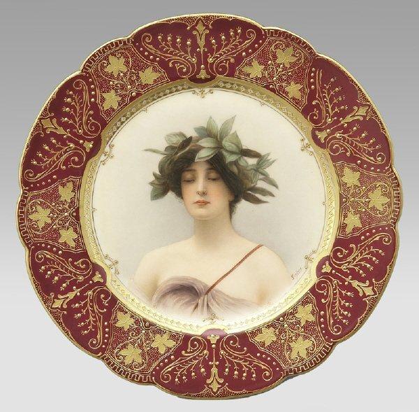 5: Vienna style porcelain portrait plate,