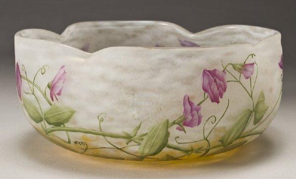 6: French Daum Nancy Sweet Pea Bowl,