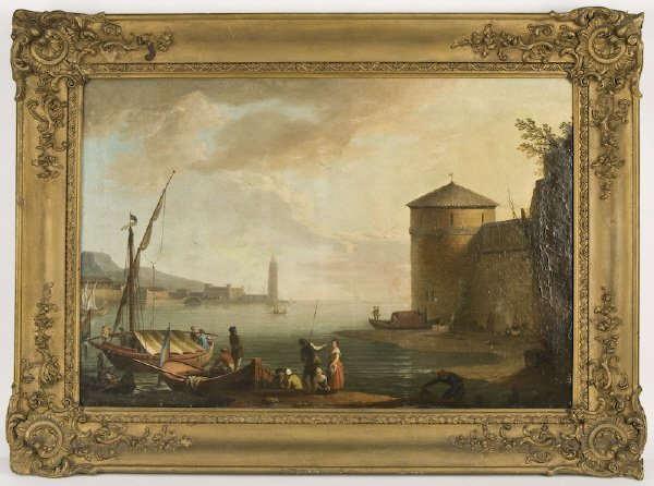 8: In the style of Abraham Jansz Storck oil painting