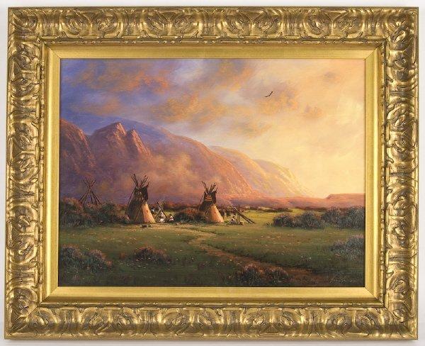 15: Heinie Hartwig oil painting on masonite,