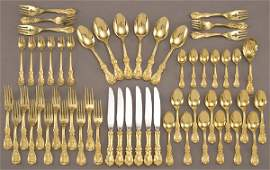 16 55 Pcs Reed and Barton Francis I gold vermeil