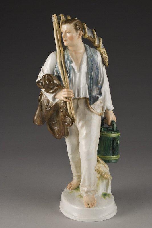 19: Rare Meissen porcelain figural of a farmer