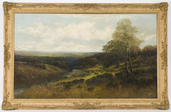 21: Frank Thomas Carter oil painting on canvas,