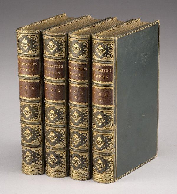 "23: 4 Vols. ""The Works of Oliver Goldsmith"""