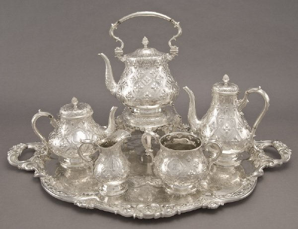 10: 6 Pc. Victorian Elkington and Co. silver plate