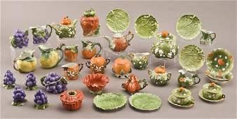 206: 49 Pcs. Royal Bayreuth porcelain fruit