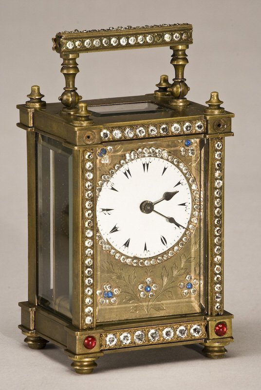 216: (3) Carriage clocks, (1) brass Rapport London, - 3