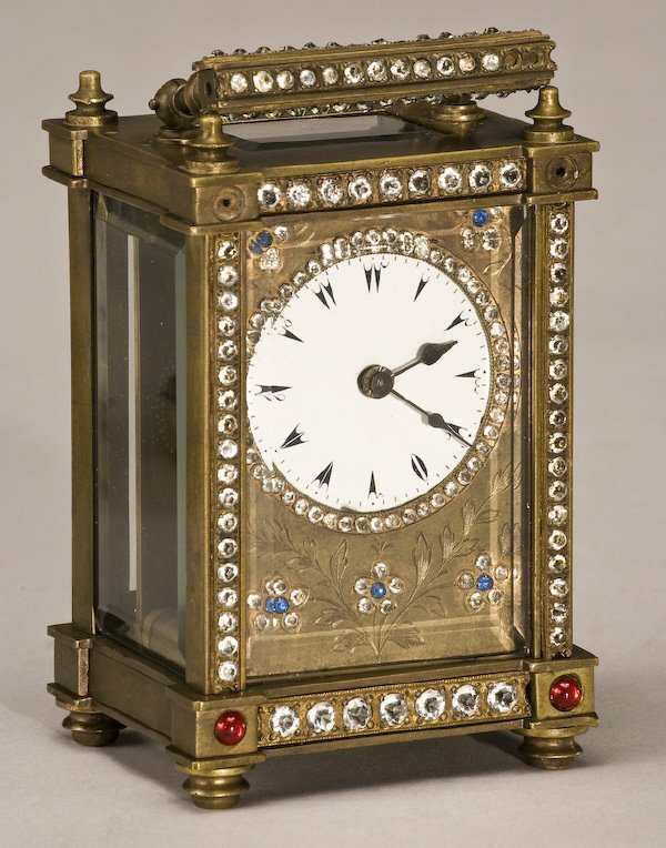 216: (3) Carriage clocks, (1) brass Rapport London, - 4