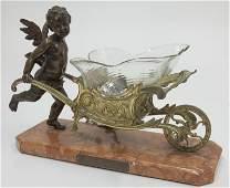 Austrian gilt and patinated bronze figure