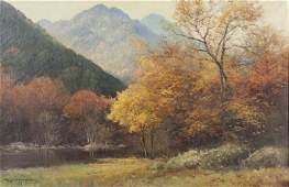 """Robert Wood """"Smokies"""" oil on canvas,"""