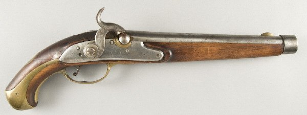 39: German Dragoon .69 bore percussion pistol