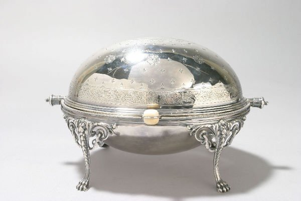 7: Marked Elkington & Co. silver plate revolving