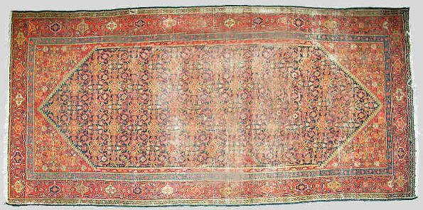 17: A Malayer runner with a repeating geometric