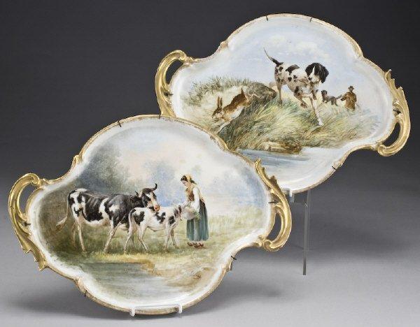 5: Pr. Oscar Bac Limoges porcelain platters,