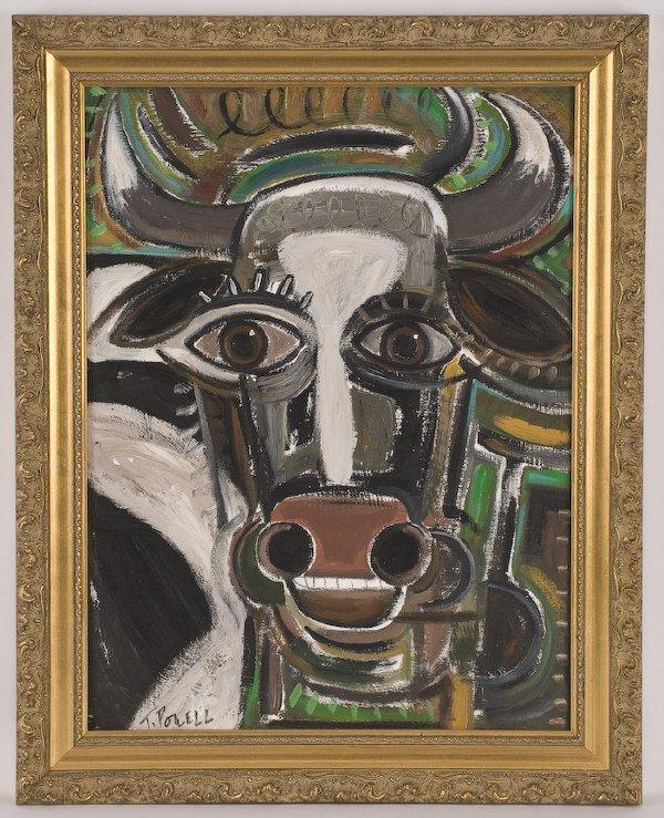 7: Terrell Powell acrylic painting on board,