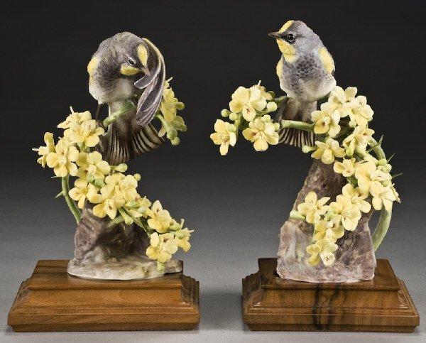 "10: Pr. Dorothy Doughty porcelain birds, ""Audubon"