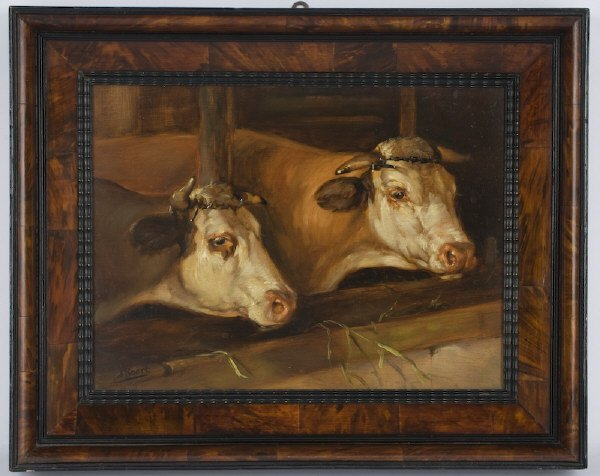 14: Continental oil painting on board,