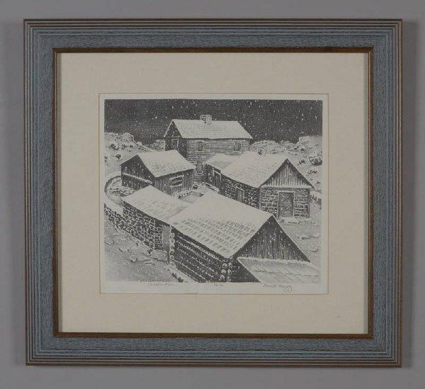 4: Merritt Mauzey (Am. 1897-1973), lithograph