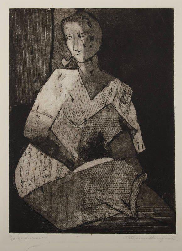 21: Katherine Bradford, etching aquatint