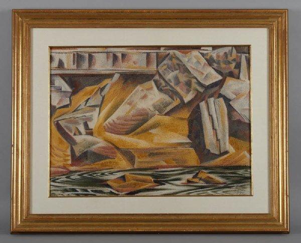 147: Alexandre Hogue (Am. 1898-1994), watercolor on