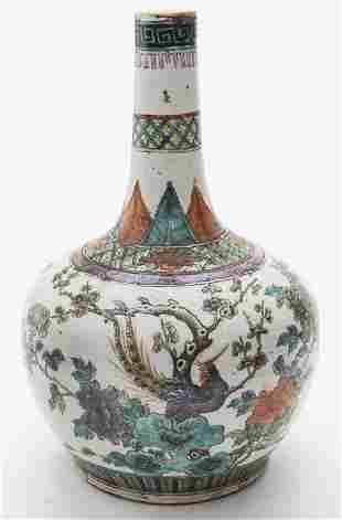 Chinese Qing famille rose porcelain vase,
