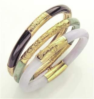 (3) Jade bangles,