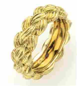Van Cleef & Arpels 18K yellow gold ring,