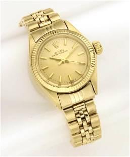 Ladies' Rolex President 14K gold