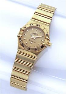 18K Gold Omega ladies Constellation watch.