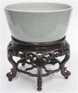 Large Chinese 16-17th C. white glaze porcelain